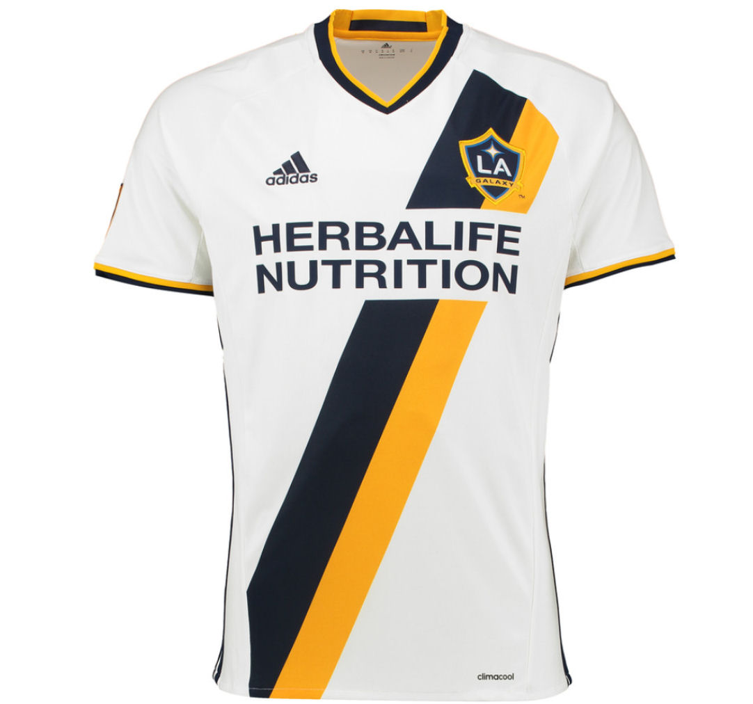 2016 LA Galaxy Adidas Home Football Shirt