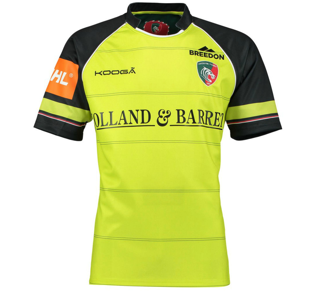 20162017 Leicester Tigers Alternate Rugby Shirt