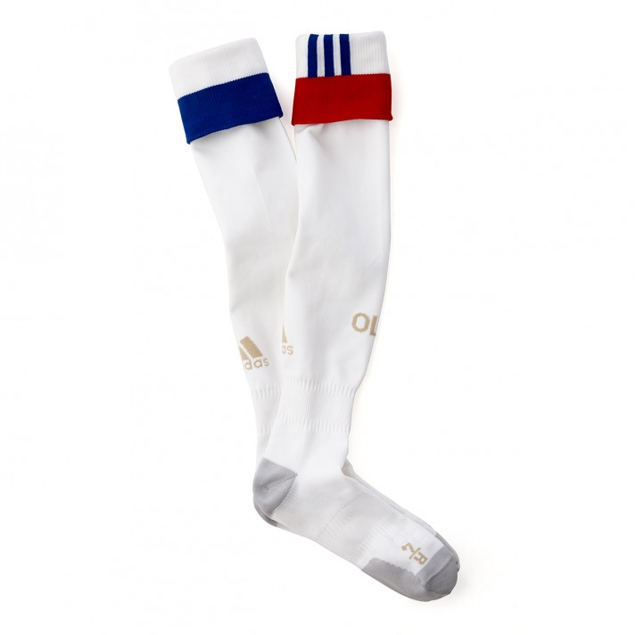 20162017 Olympique Lyon Adidas Home Football Socks (White)