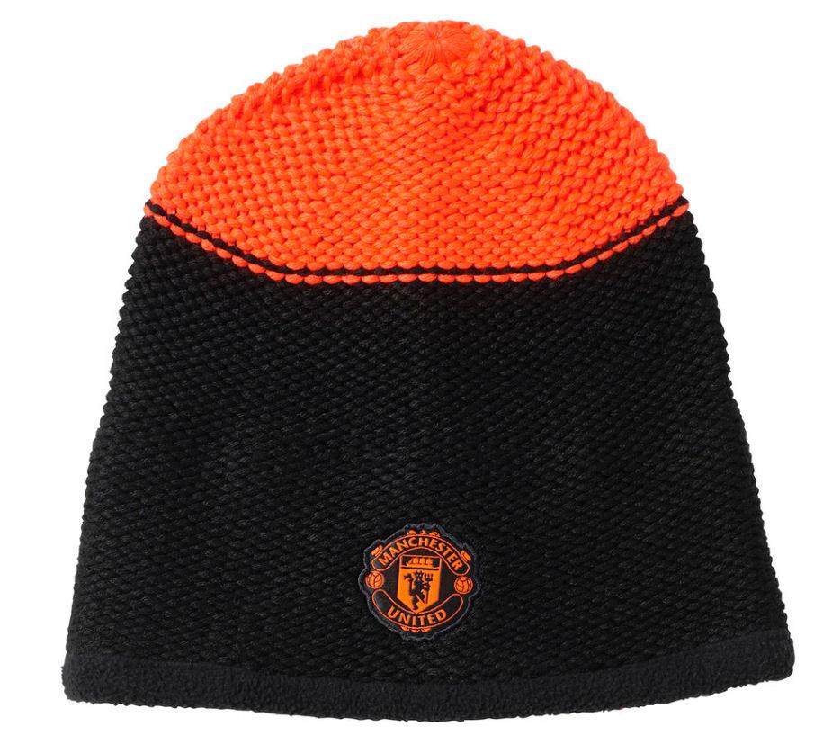 20152016 Man Utd Adidas Beanie Hat (Black)