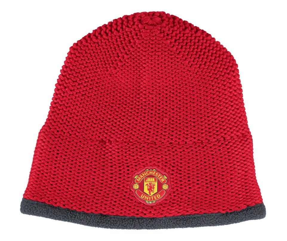 20152016 Man Utd Adidas Beanie Hat (Red)