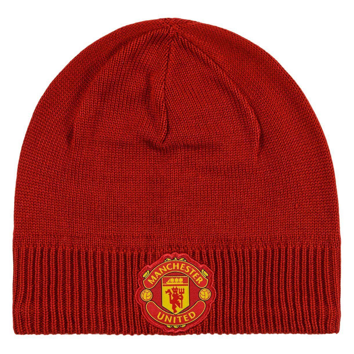 20162017 Man Utd Adidas 3S Beanie (Red)