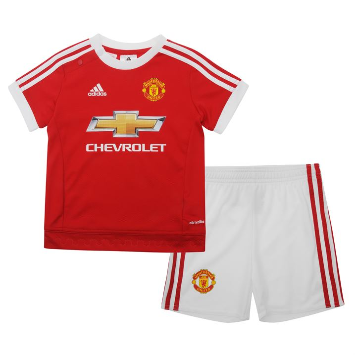 20152016 Man Utd Adidas Home Baby Kit