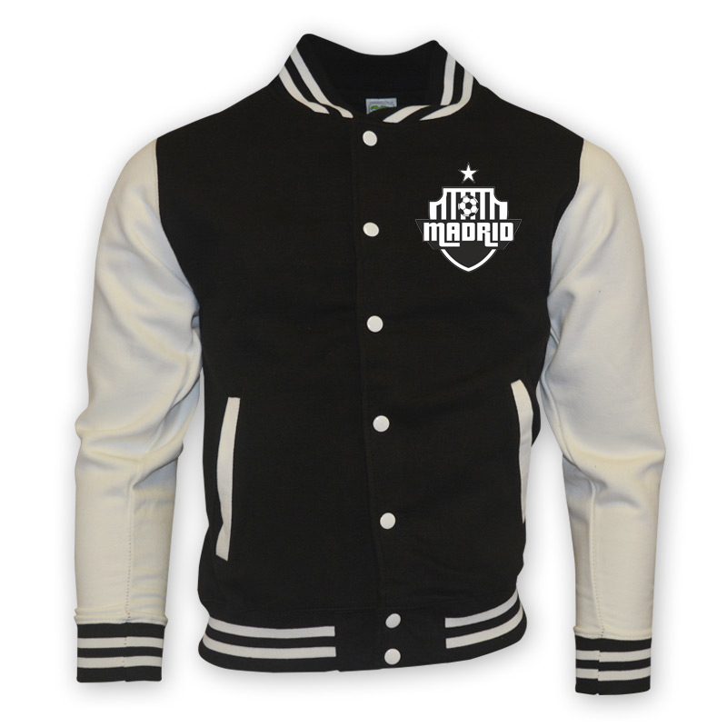 Real Madrid College Baseball Jacket (black) [BASEBALLBLACKWHITE ...