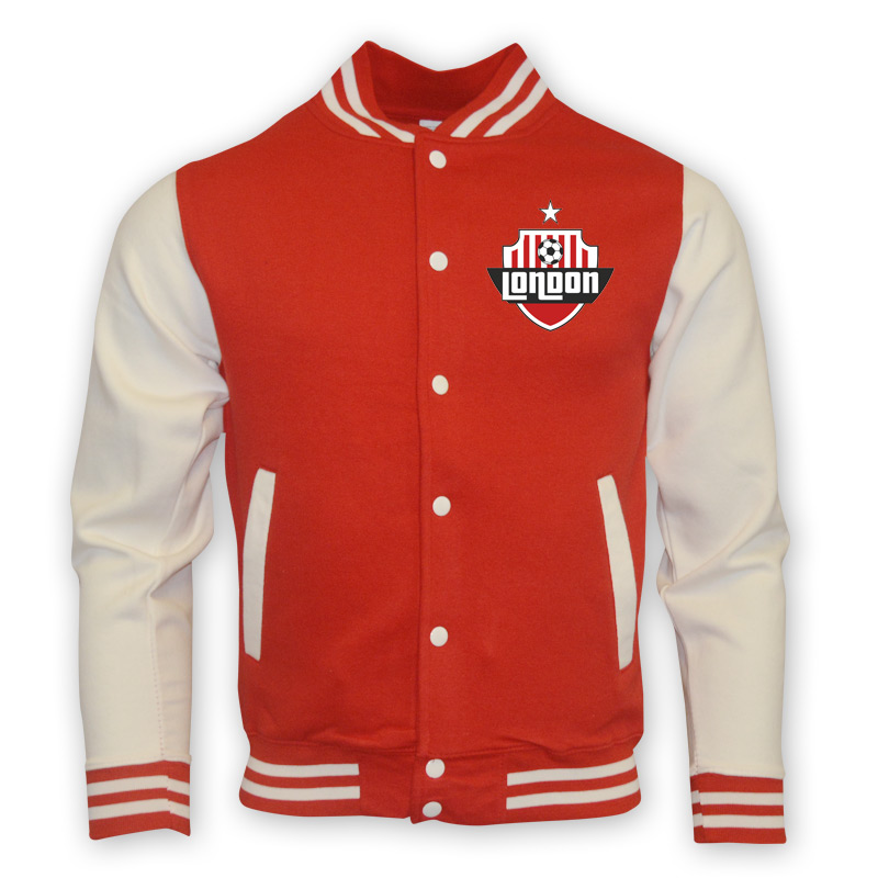 Arsenal College Baseball Jacket (red)  Kids
