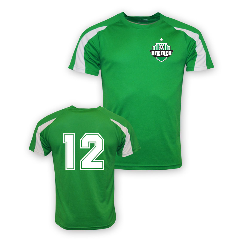 Image of 12 Werder Bremen Sports Training Jersey (green) - Kids