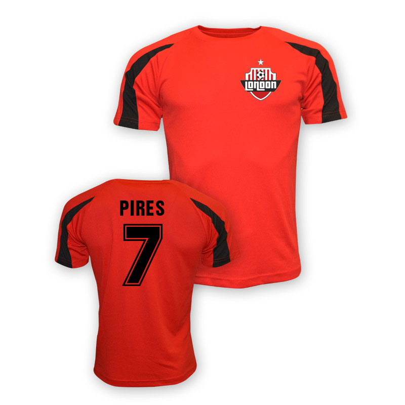 Robert Pires Arsenal Sports Training Jersey (red)
