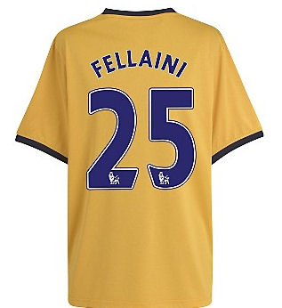 2011-12 Everton Away Football Shirt (Fellaini 25)