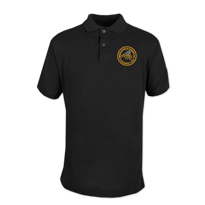 Middlefield Wasps Core Polo Shirt (Black)