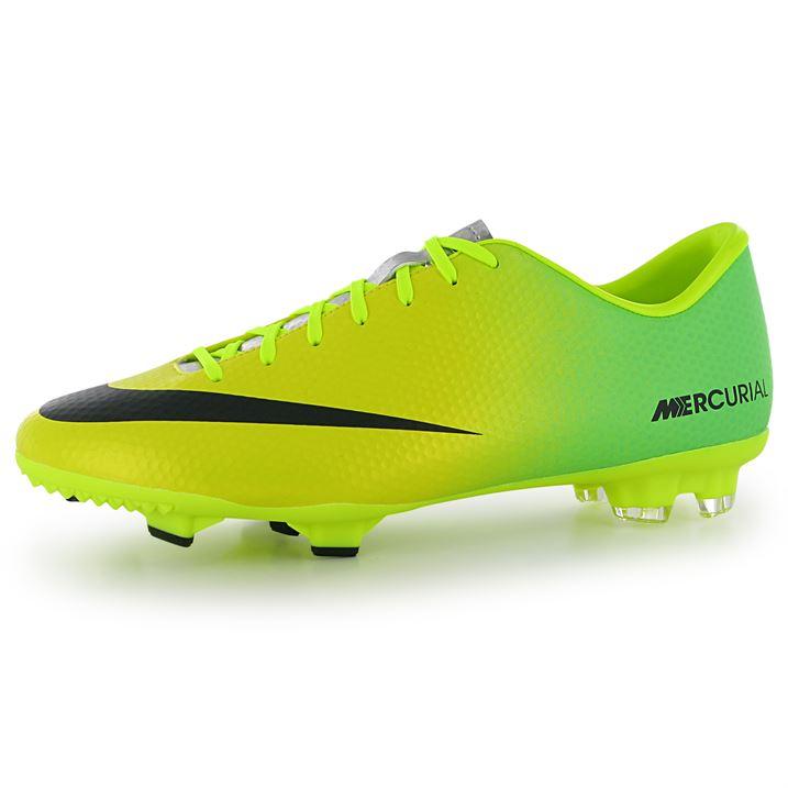 Nike Mercurial Victory FG Mens Football Boots (YellowBlack)