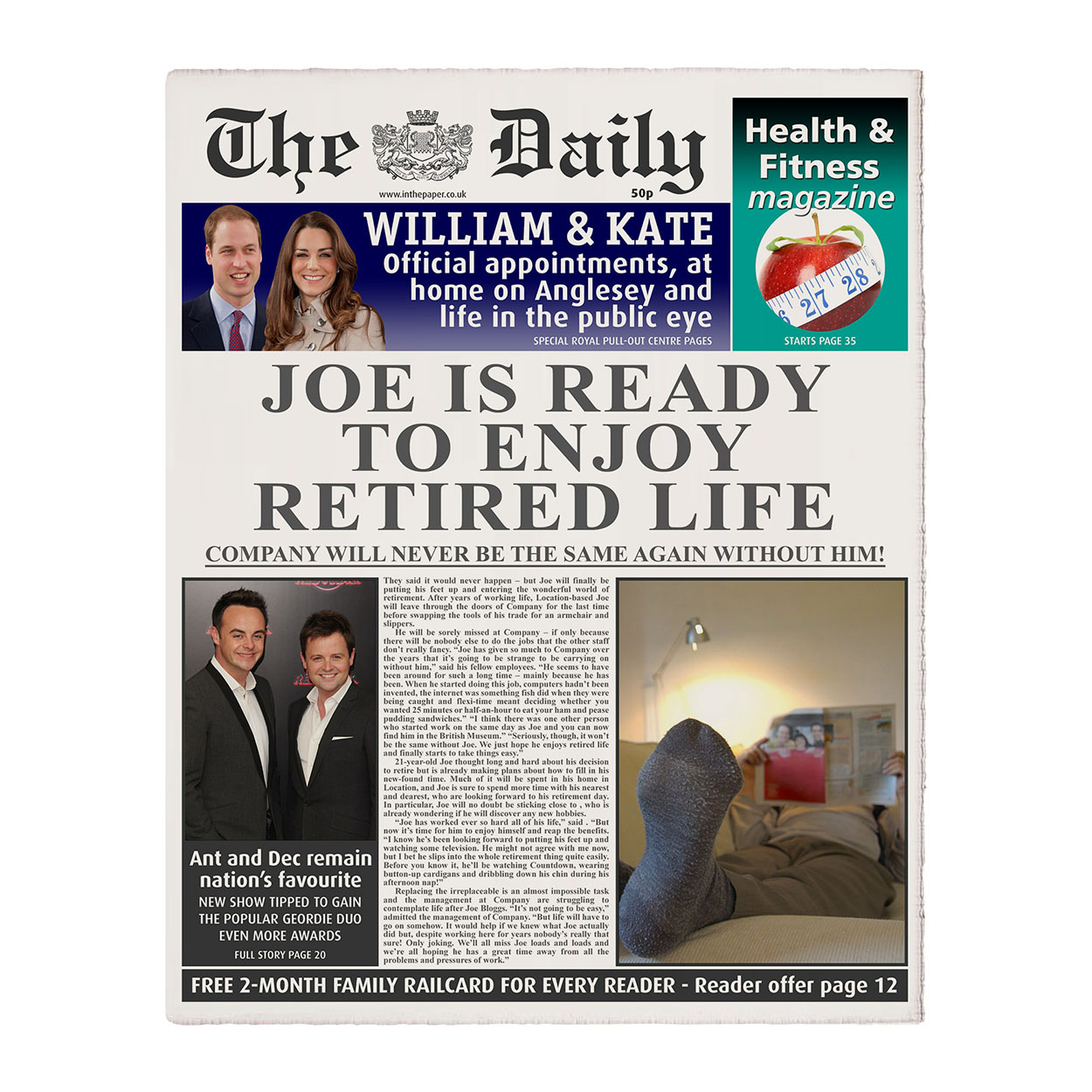 Personalised The Daily Retirement Newspaper