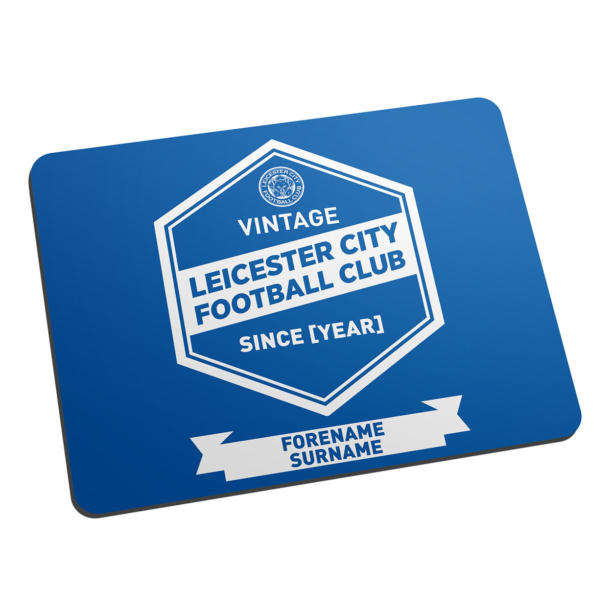 Personalised Leicester City Vintage Mouse Mat