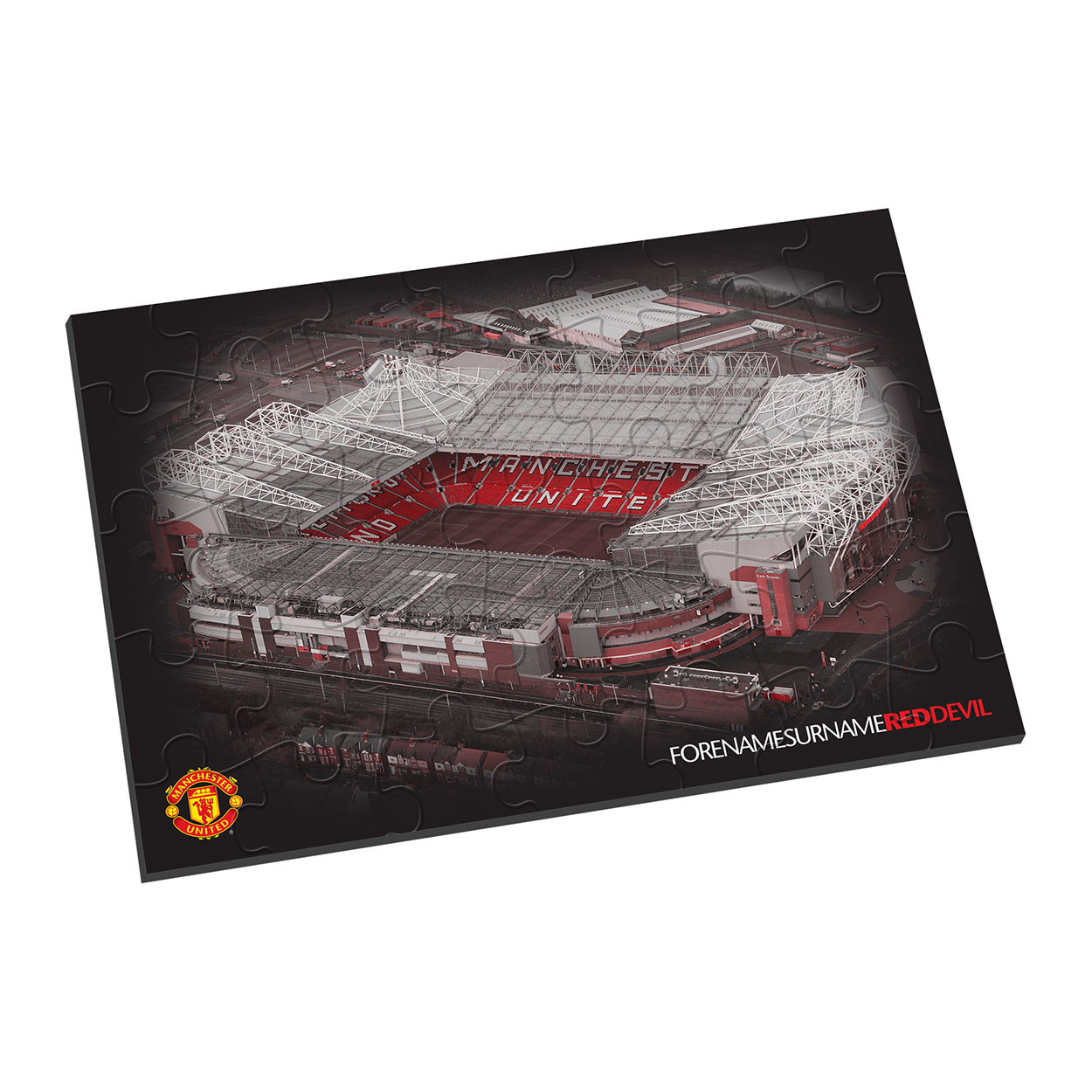 Personalised Manchester United Old Trafford Jigsaw - Black