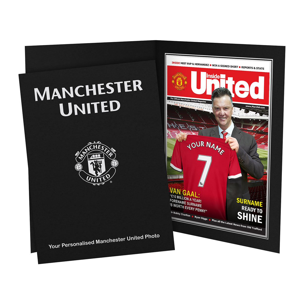 Personalised Manchester United Magazine Cover
