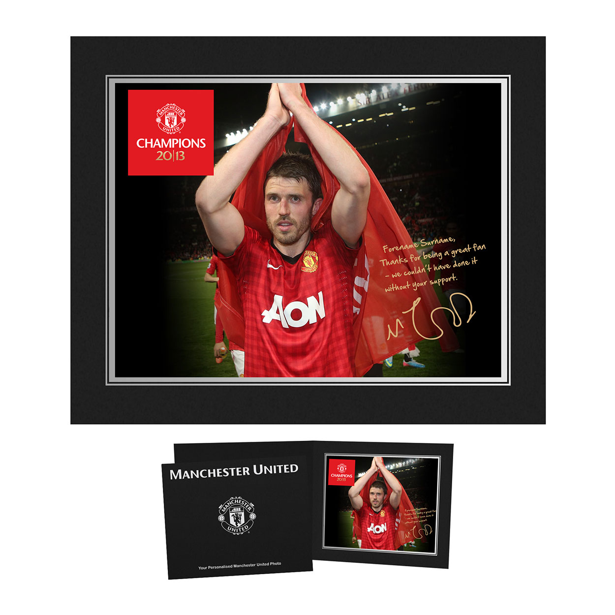 Personalised Champions 2013 Player Photo - Michael Carrick