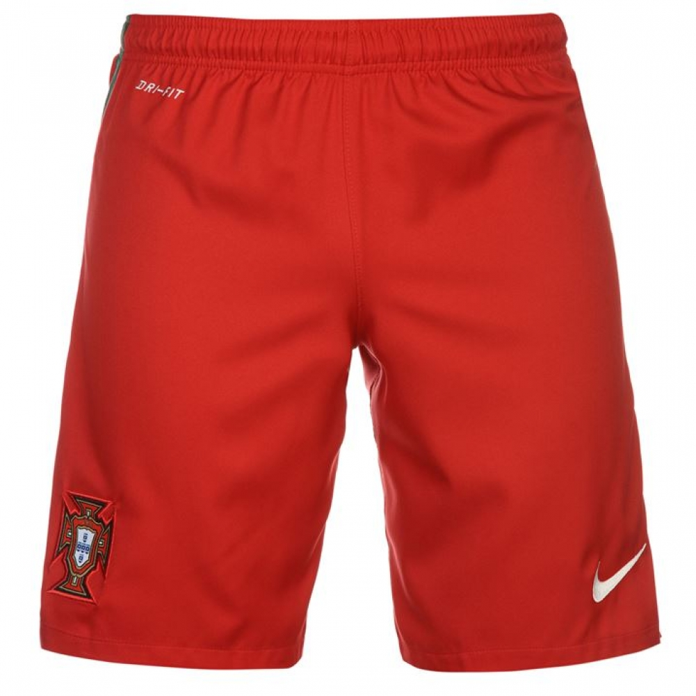 2016-2017 Portugal Nike Home Shorts (Red) - Kids