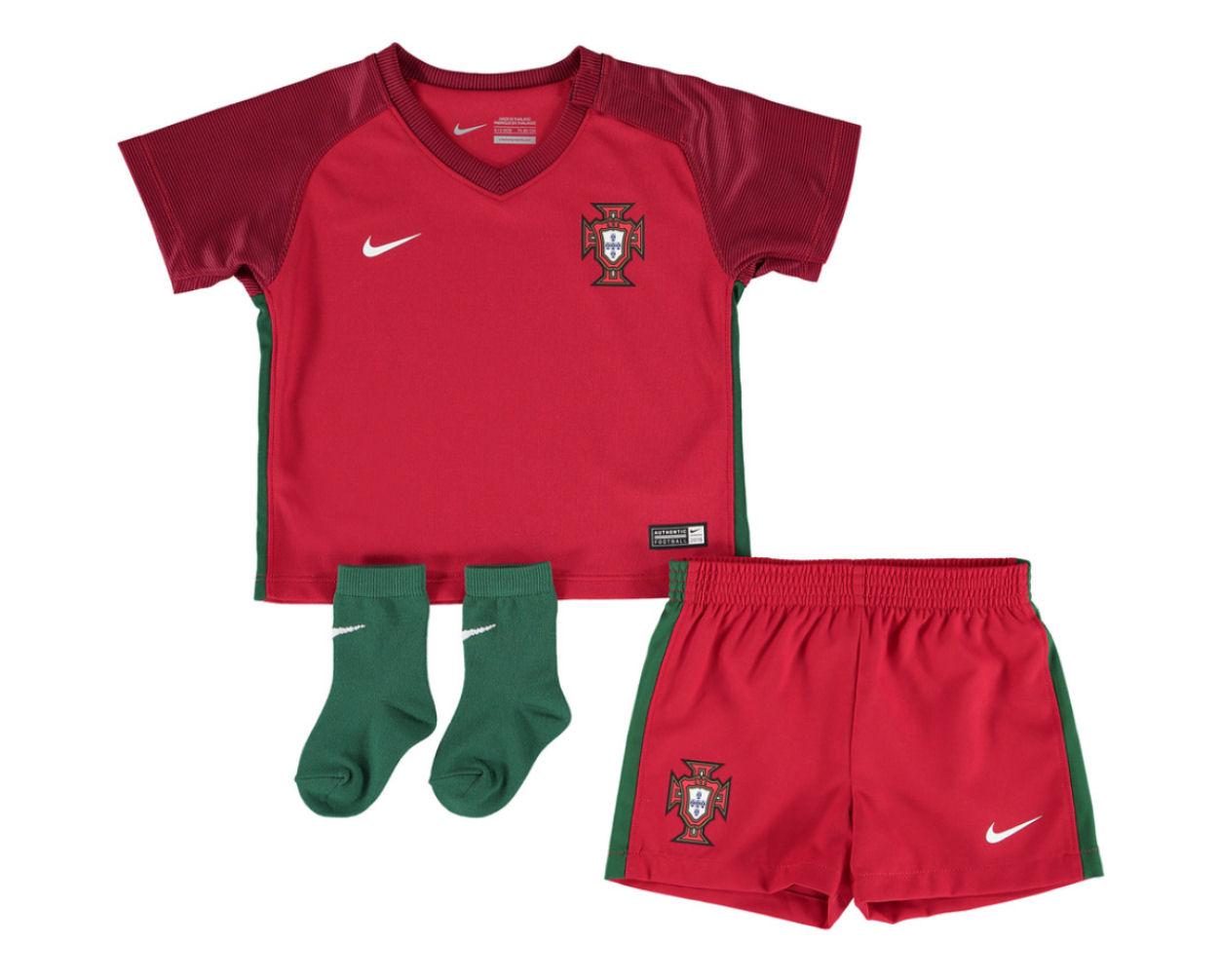 2016-2017 Portugal Home Nike Baby Kit