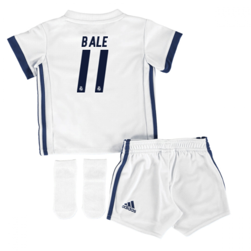 2016-17 Real Madrid Home Adidas SMU Mini Kit (Bale 11)