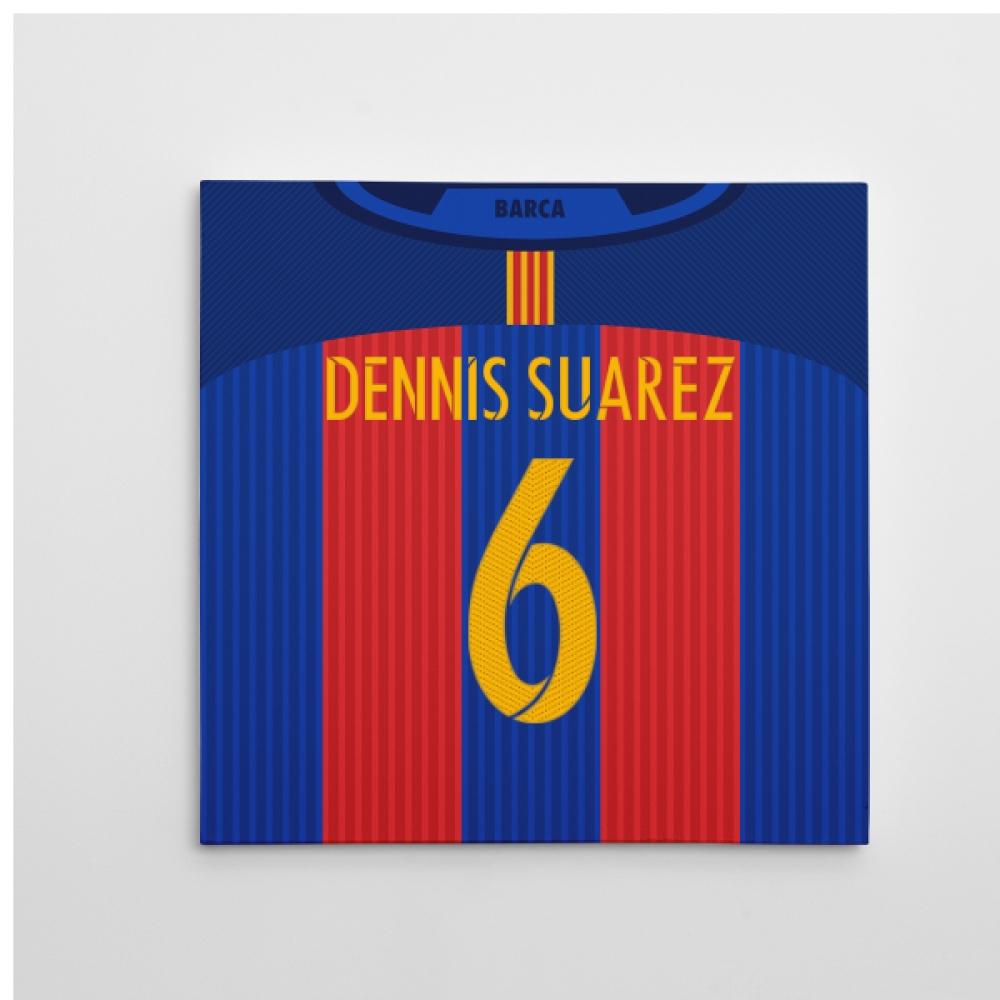 2016-2017 Barcelona Canvas Print (Dennis Suarez 6)