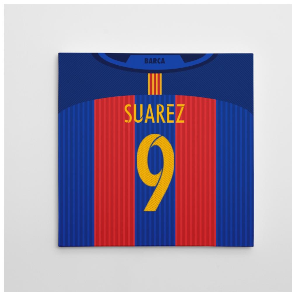 2016-2017 Barcelona Canvas Print (Suarez 9)