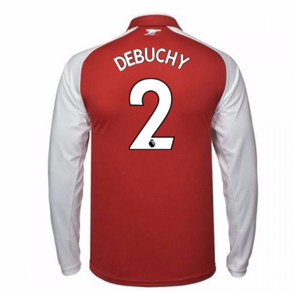 2017-18 Arsenal Home Long Sleeve Shirt (Debuchy 2)