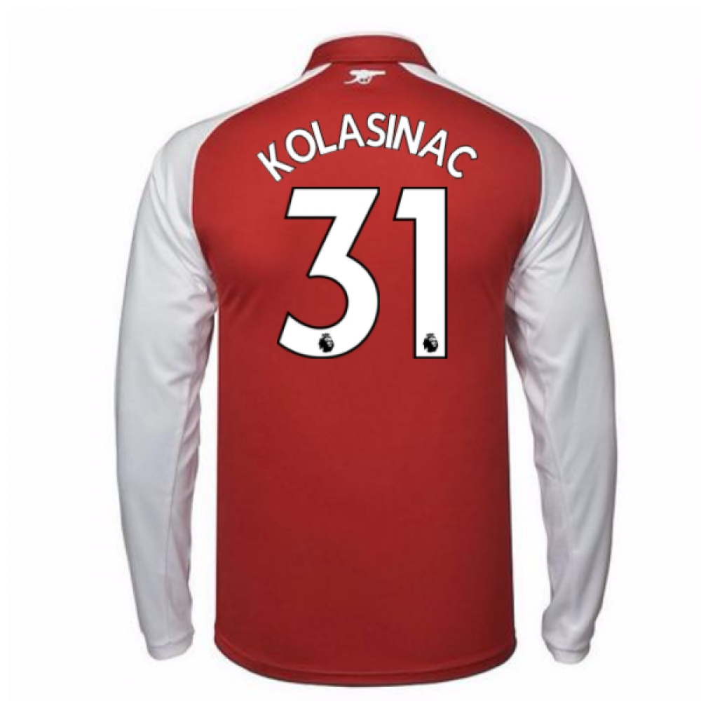 2017-18 Arsenal Home Long Sleeve Shirt (Kolasinac 31)