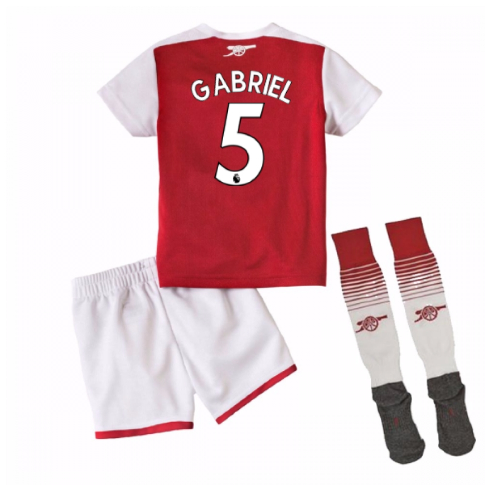 2017-18 Arsenal Home Mini Kit (Gabriel 5)