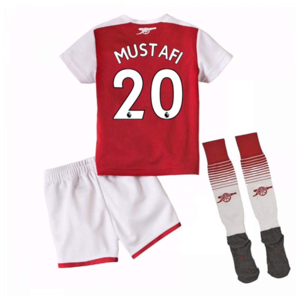 2017-18 Arsenal Home Mini Kit (Mustafi 20)