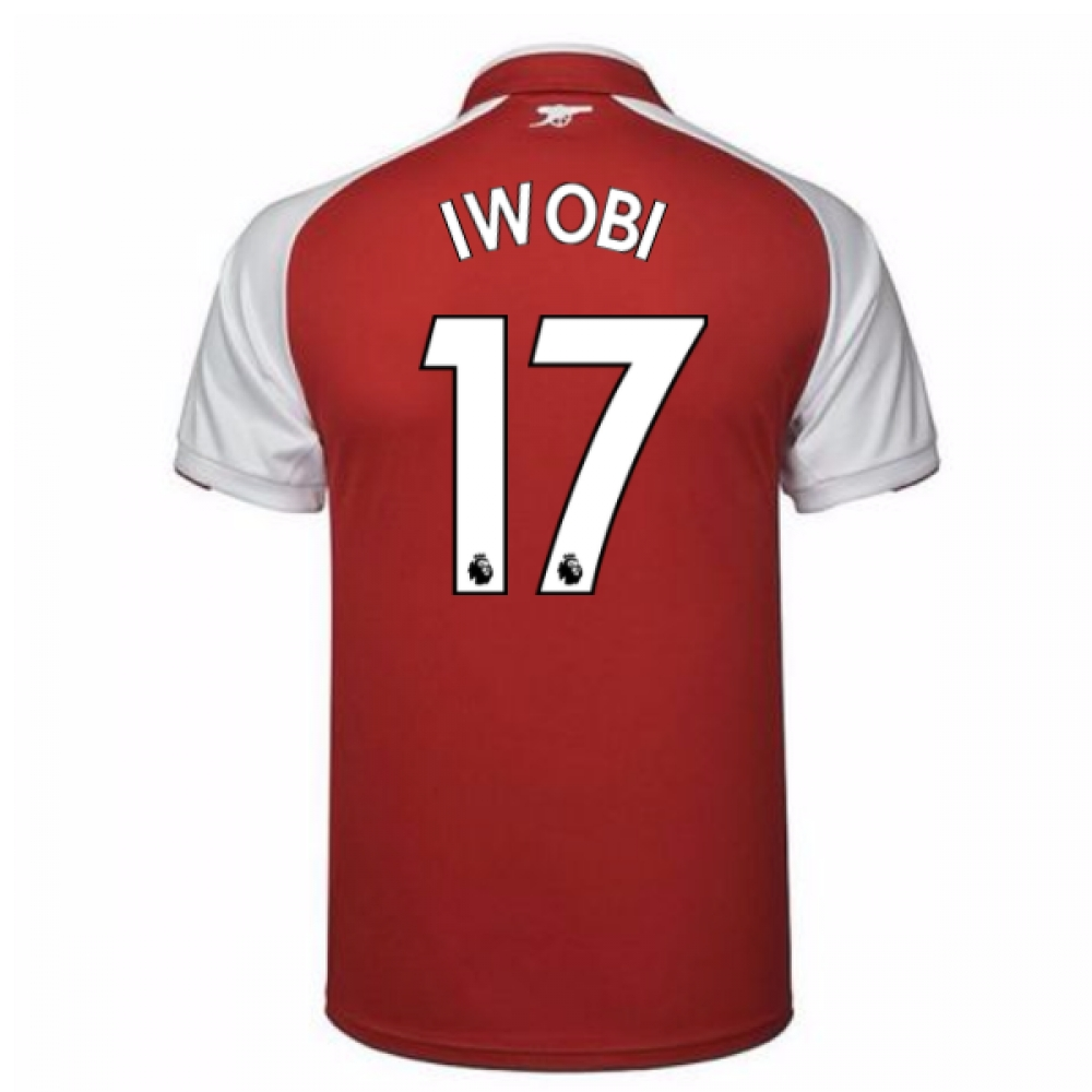 2017-18 Arsenal Home Shirt - Kids (Iwobi 17)