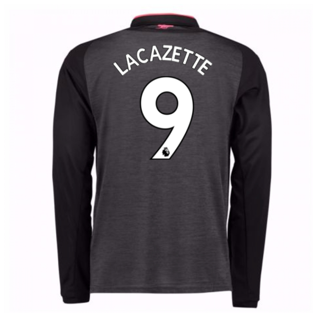 2017-18 Arsenal Third Long Sleeve Shirt (Lacazette 9)