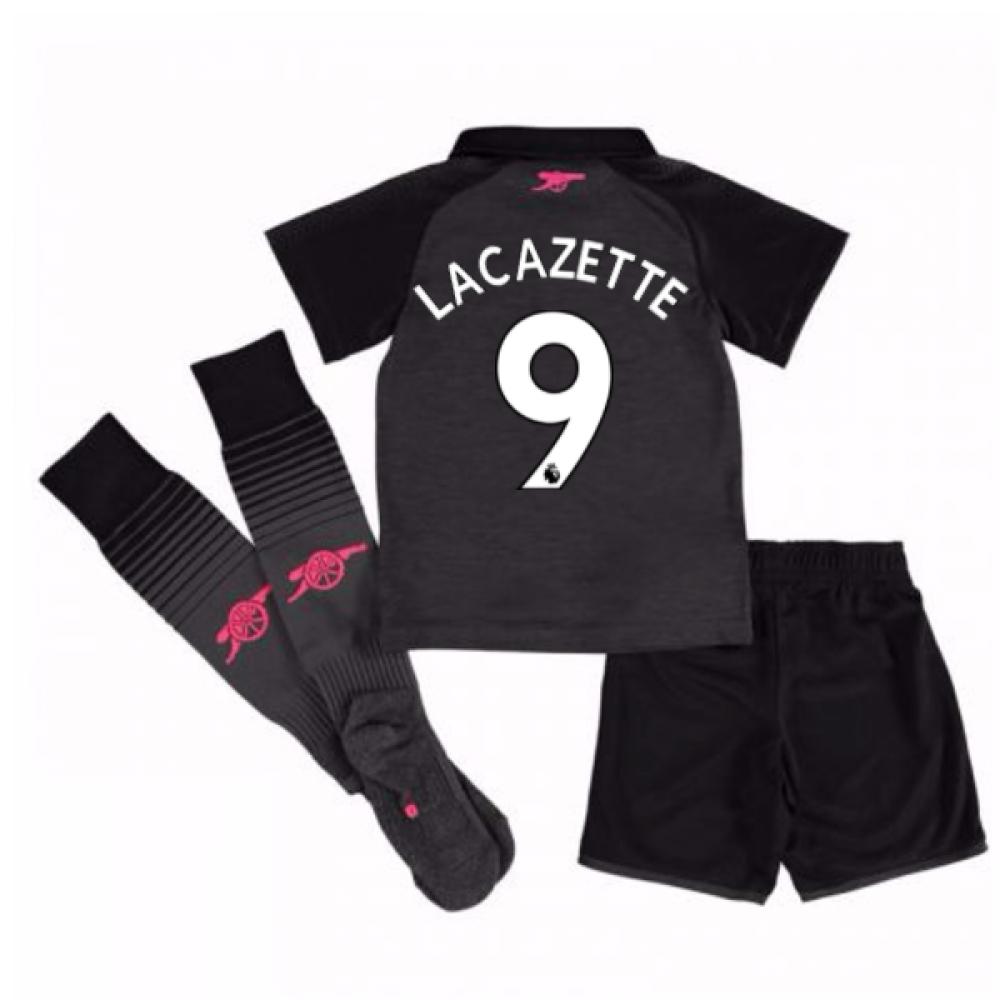 2017-18 Arsenal Third Mini Kit (Lacazette 9)