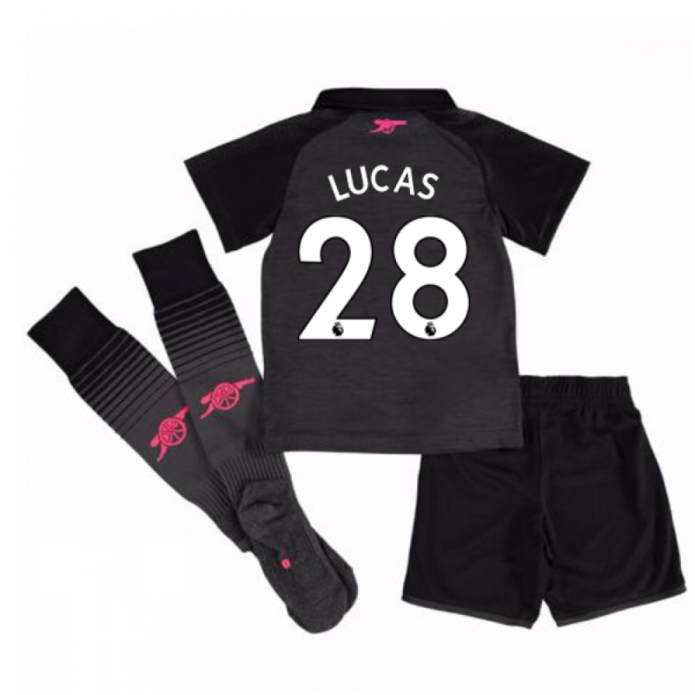 2017-18 Arsenal Third Mini Kit (Lucas 28)
