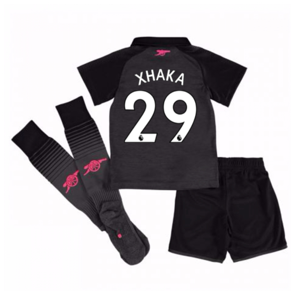 2017-18 Arsenal Third Mini Kit (Xhaka 29)
