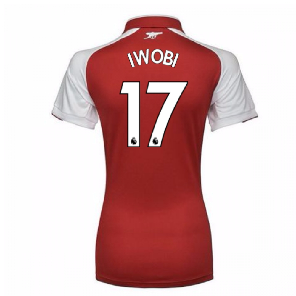 2017-18 Arsenal Womens Home Shirt (Iwobi 17)
