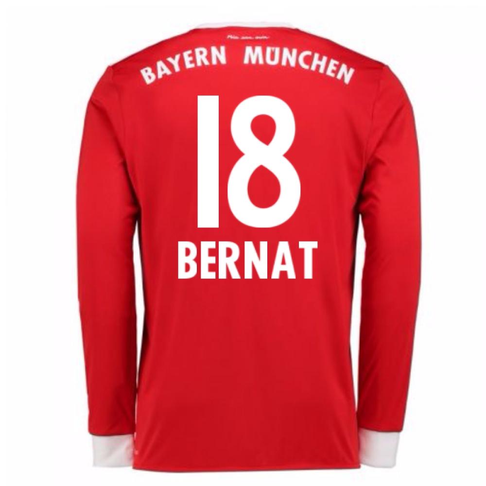 2017-18 Bayern Munich Home Long Sleeve Shirt (Bernat 18)