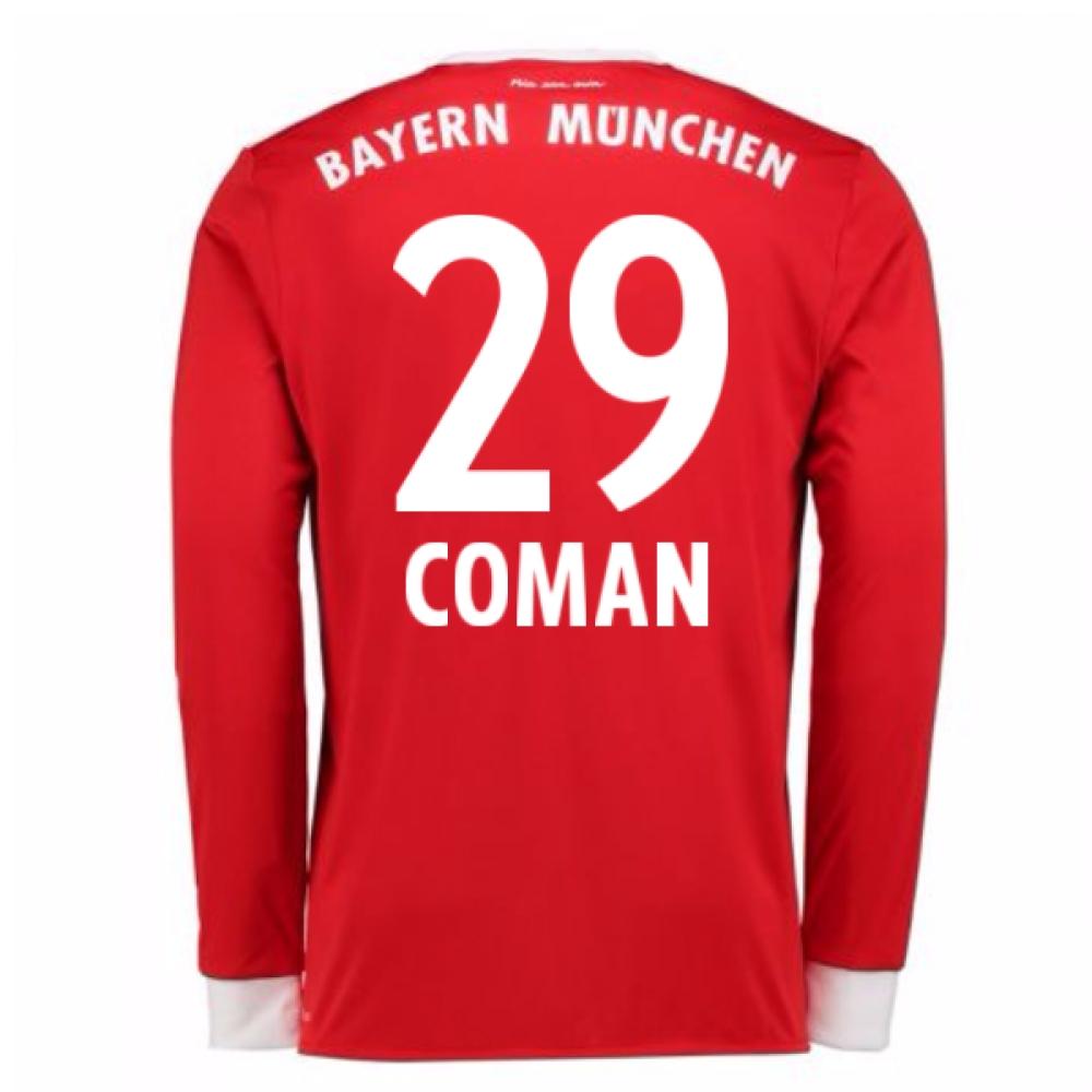 2017-18 Bayern Munich Home Long Sleeve Shirt (Coman 29)