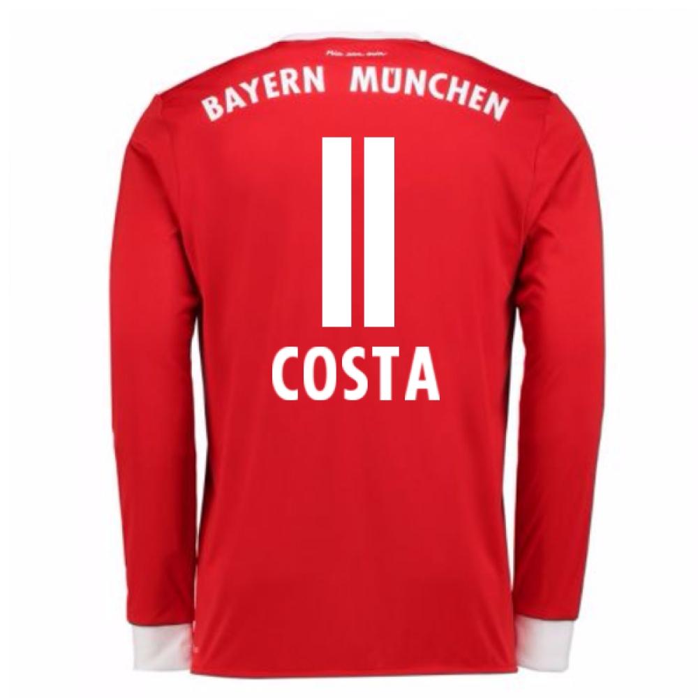 2017-18 Bayern Munich Home Long Sleeve Shirt (Costa 11)