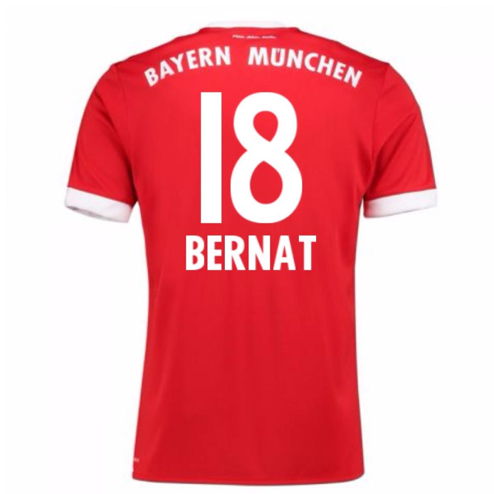 2017-18 Bayern Munich Home Short Sleeve (Kids) (Bernat 18)