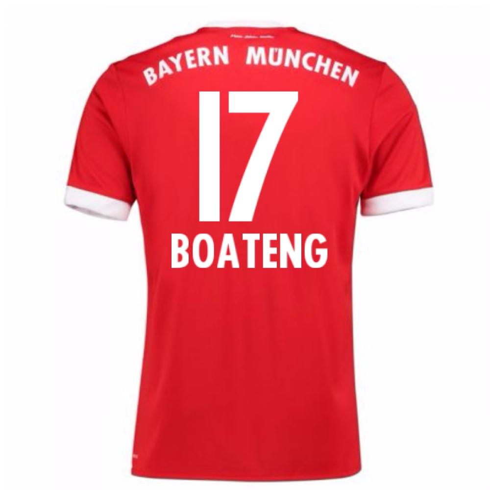 2017-18 Bayern Munich Home Short Sleeve (Kids) (Boateng 17)