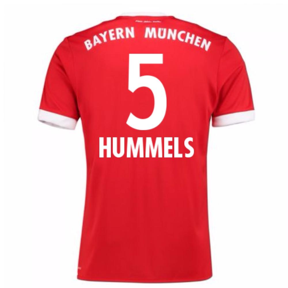 2017-18 Bayern Munich Home Short Sleeve (Kids) (Hummels 5)