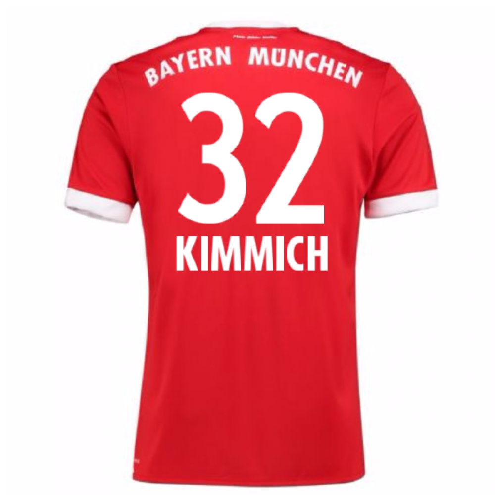 2017-18 Bayern Munich Home Short Sleeve (Kids) (Kimmich 32)