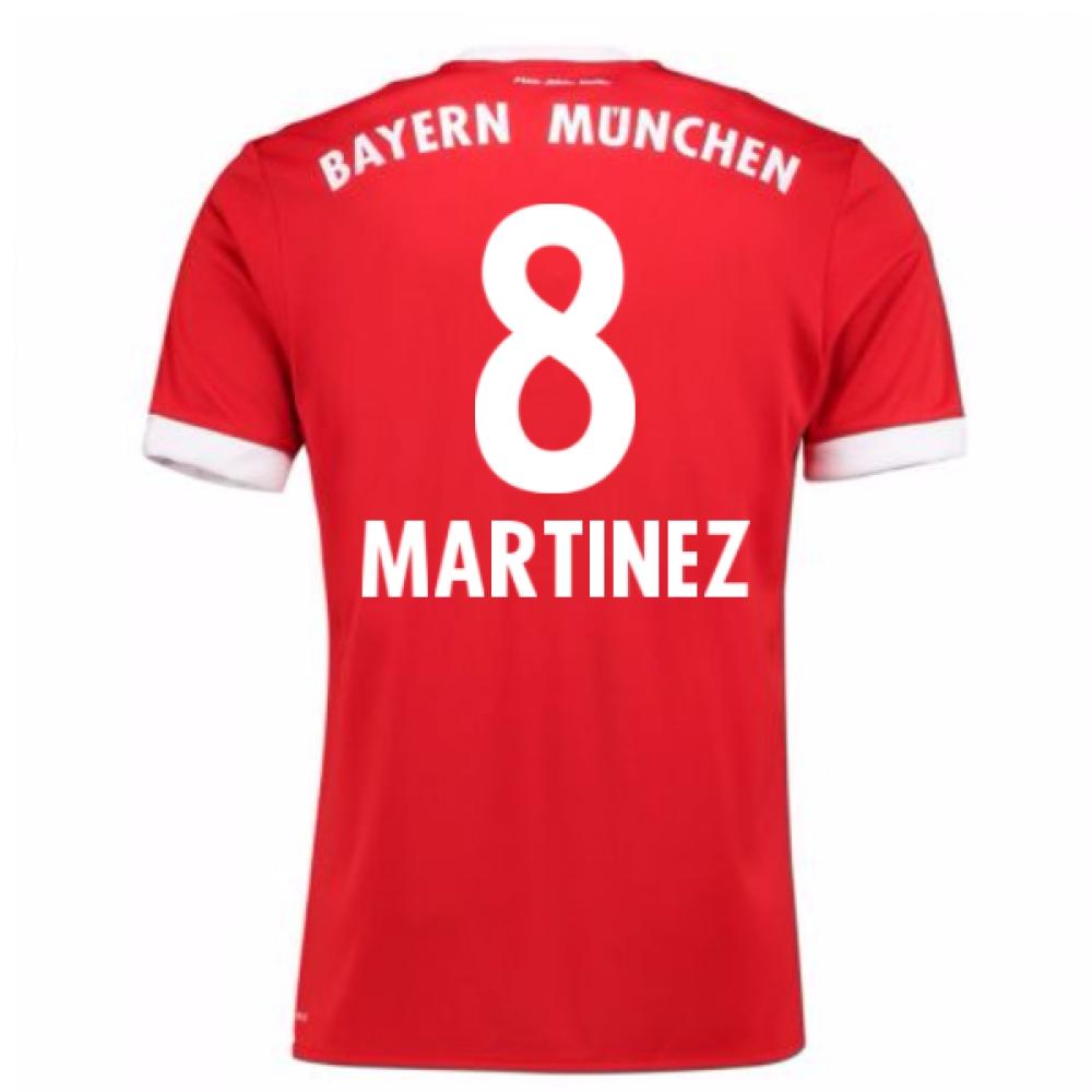 2017-18 Bayern Munich Home Short Sleeve (Kids) (Martinez 8)