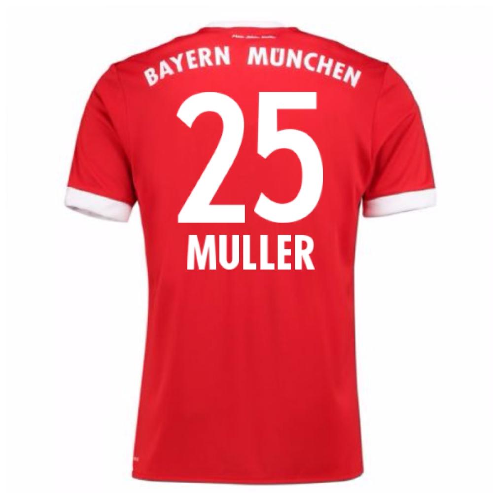 2017-18 Bayern Munich Home Short Sleeve (Kids) (Muller 25)