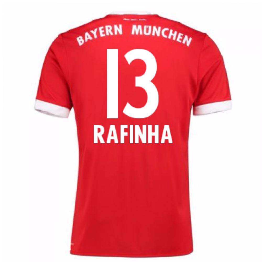 2017-18 Bayern Munich Home Short Sleeve (Kids) (Rafinha 13)