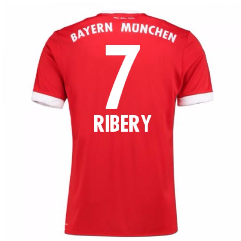 2017-18 Bayern Munich Home Short Sleeve (Kids) (Ribery 7)