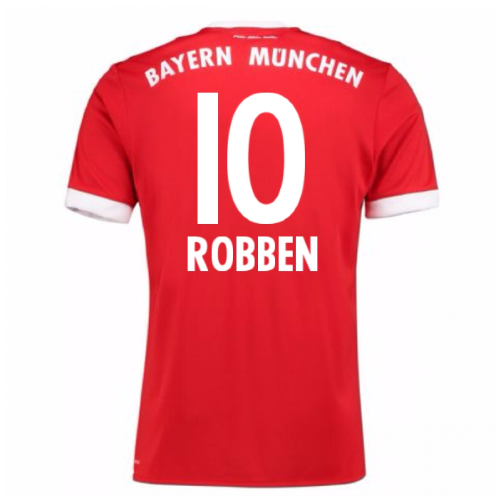 2017-18 Bayern Munich Home Short Sleeve (Kids) (Robben 10)