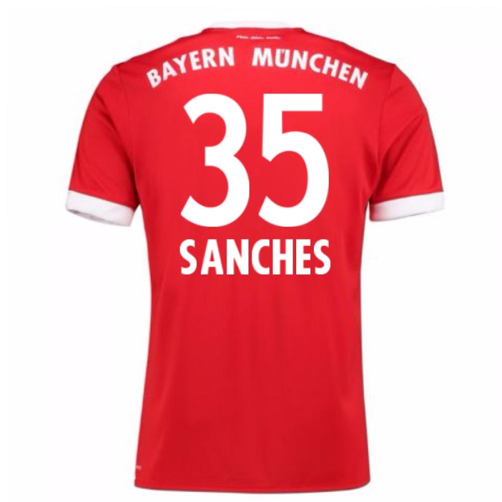 2017-18 Bayern Munich Home Short Sleeve (Kids) (Sanches 35)