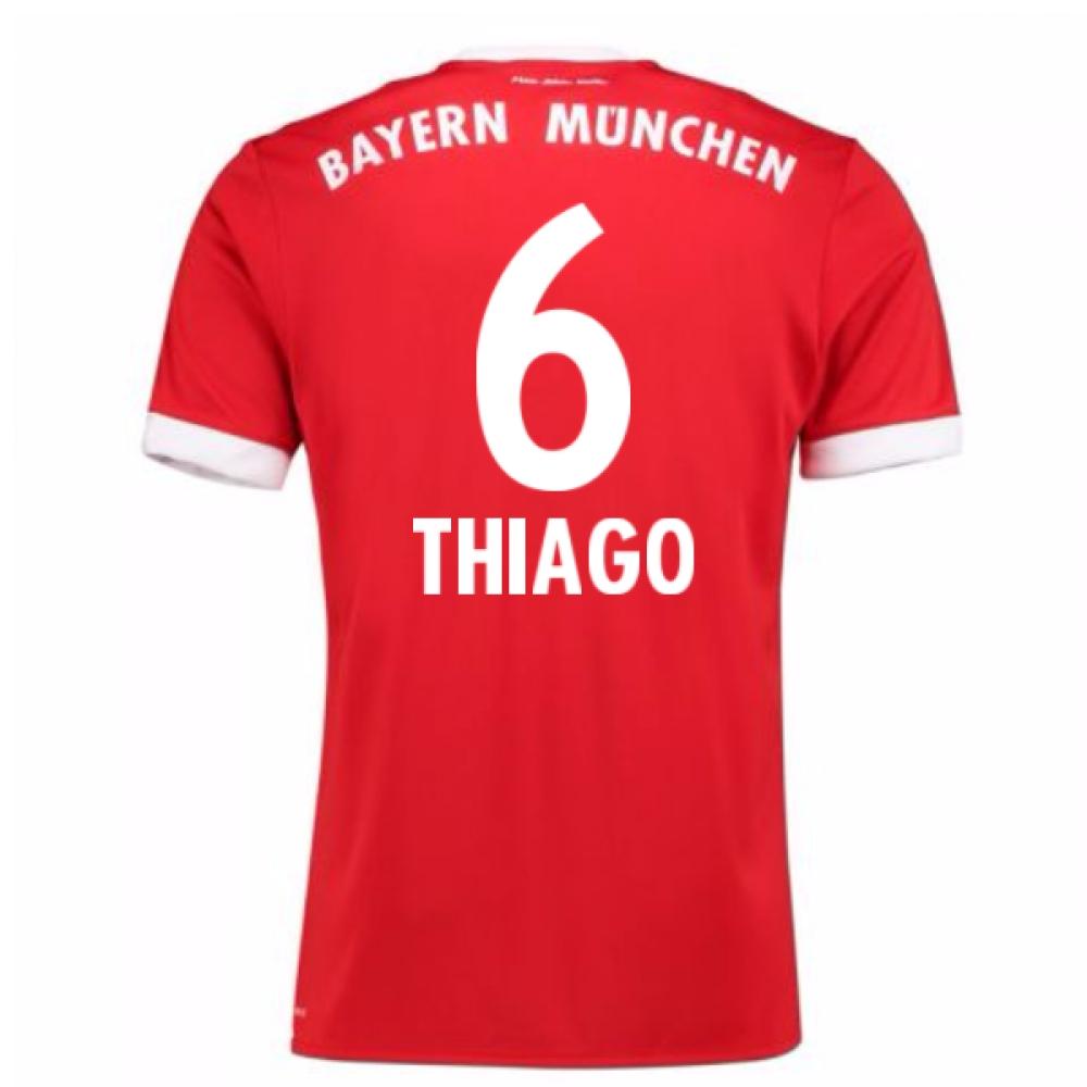 2017-18 Bayern Munich Home Short Sleeve (Kids) (Thiago 6)