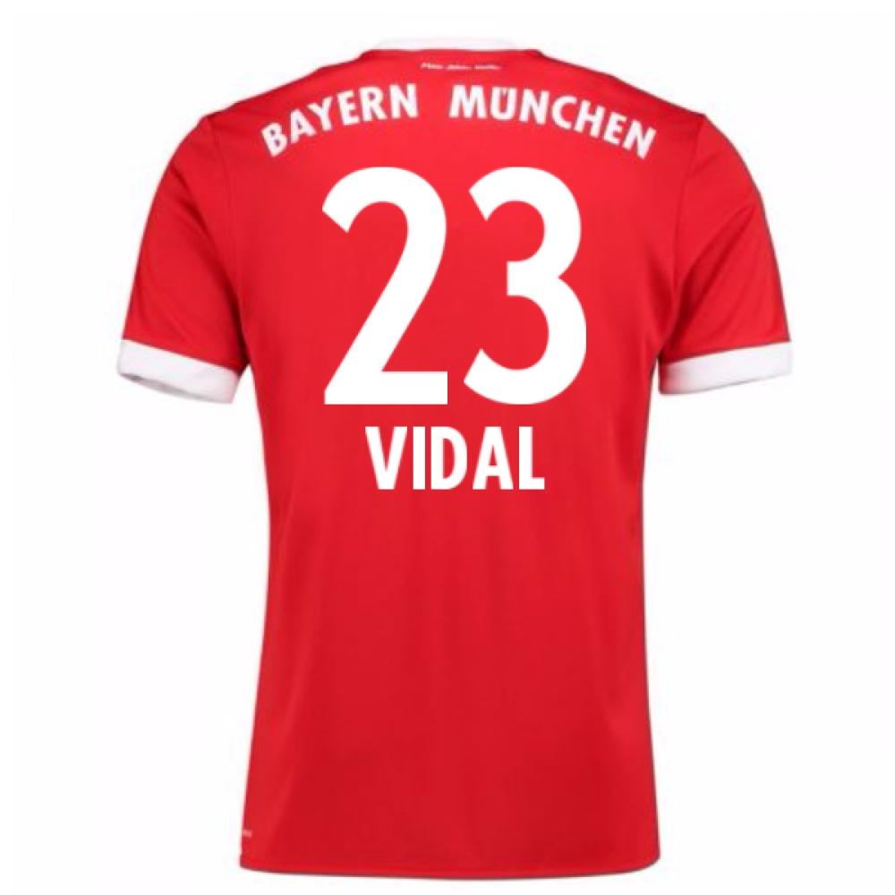 2017-18 Bayern Munich Home Short Sleeve (Kids) (Vidal 23)