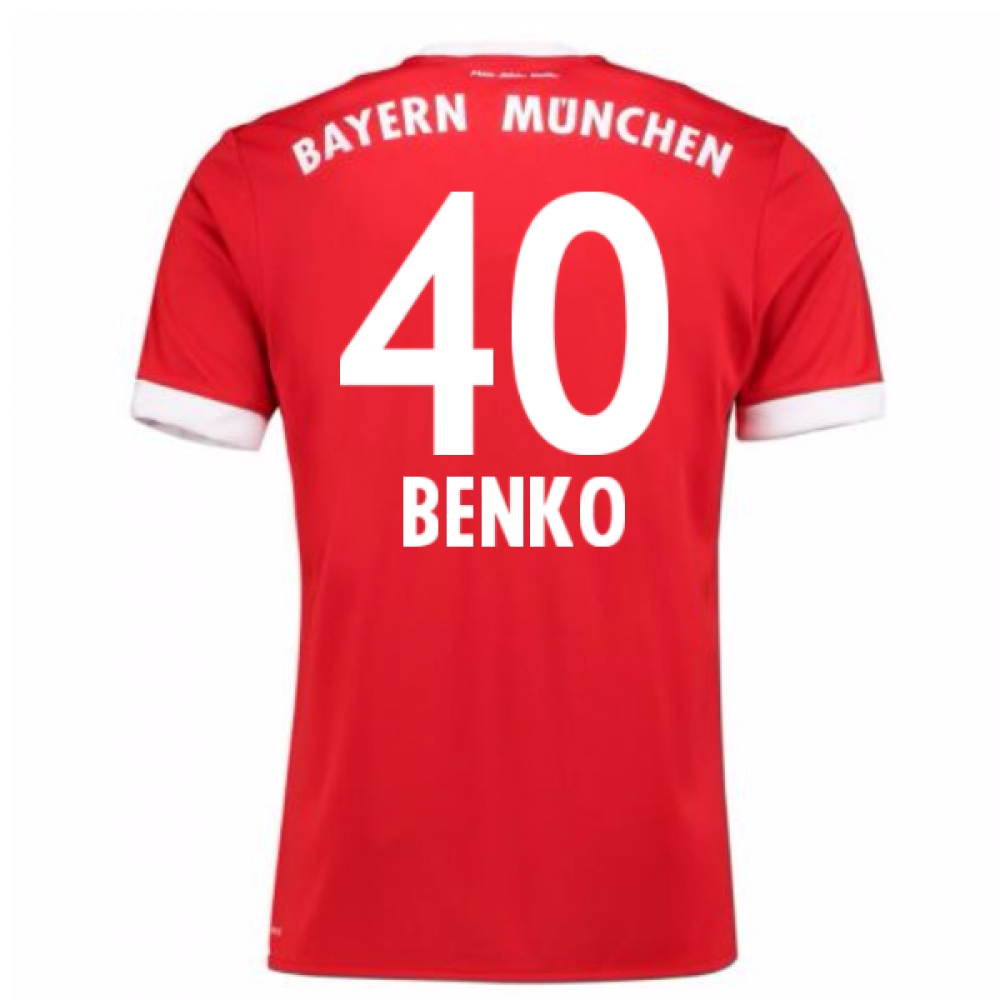 2017-18 Bayern Munich Home Short Sleeve Shirt (Benko 40)
